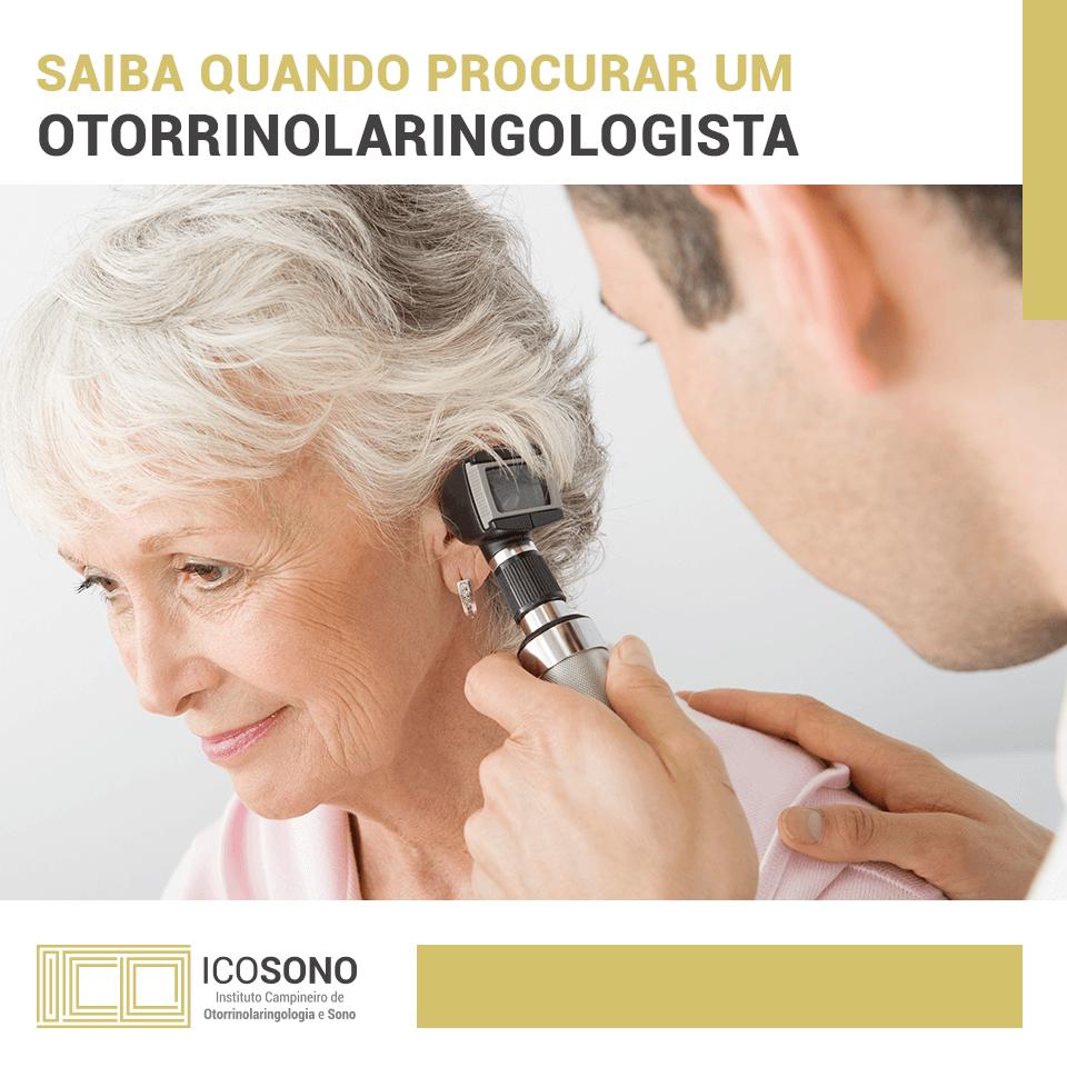 Saiba Quando Procurar um Otorrinolaringologista! - ICOSONO Instituto Campineiro de Otorrinolaringologia e Sono